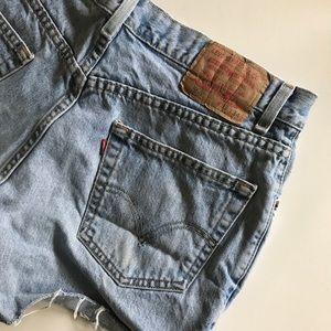 Levi's Shorts - Levi 550 relaxed jean cut off shorts denim